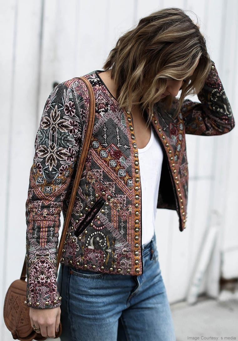 Embroidered Short Coats