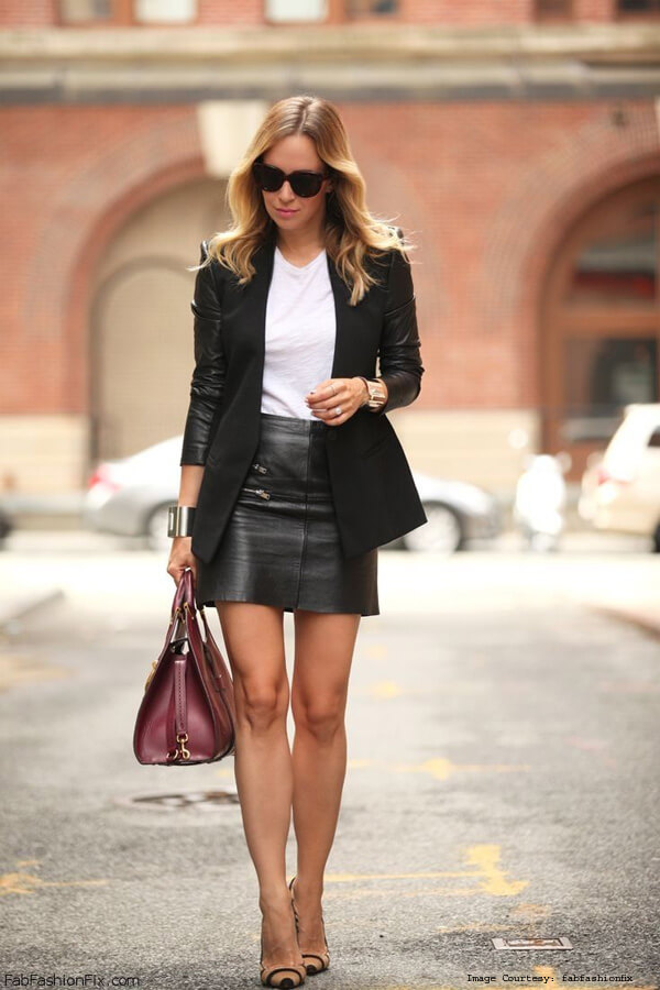 A Leather Skirt