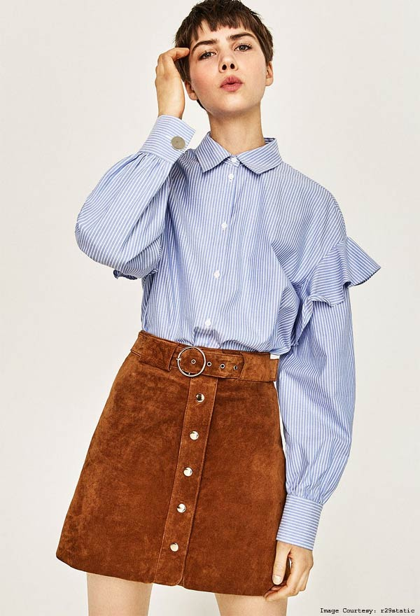 Ruffled Front Deconstructed Shirt Trend