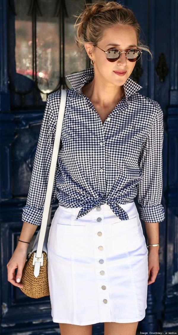 Throw In a Skirt With a Wraparound Deconstructed Shirt