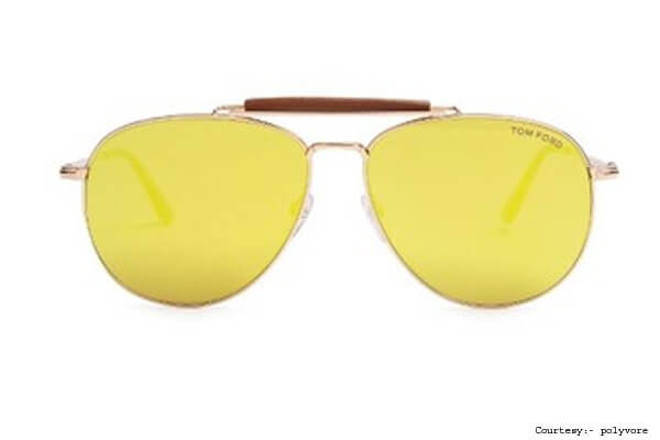 Tom Ford's Yellow Sunglasses