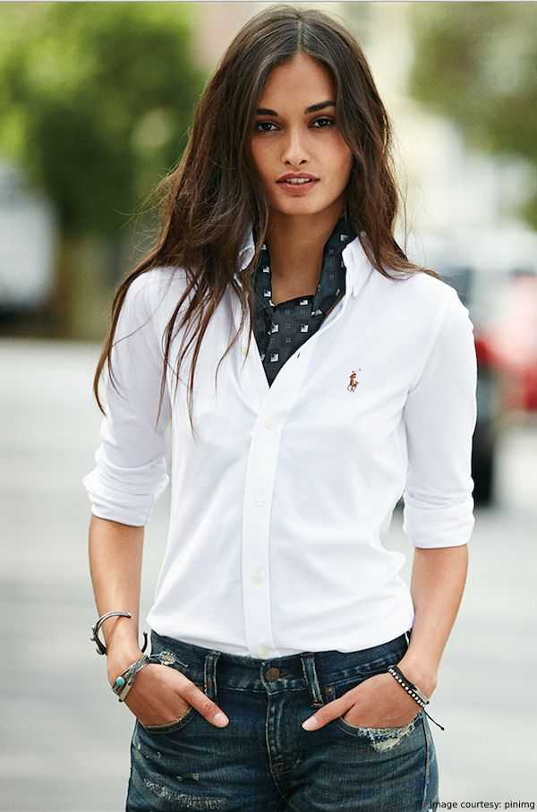 Nautical dresses - White Polo With Jeans