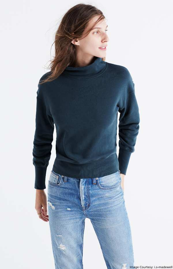Nautical Outfit Clothing - Navy Blue Turtleneck Sweat Shirt