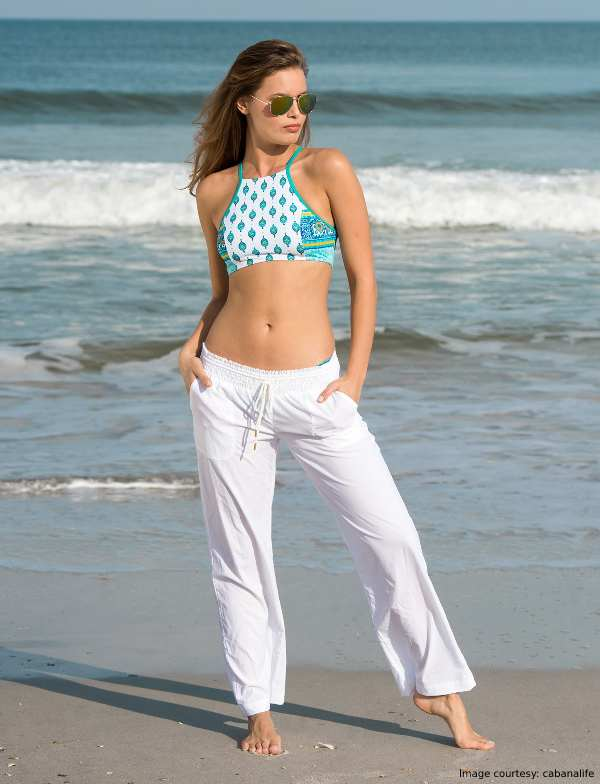 Nautical Stripes And a Sheer Pair Of White Pants outfit