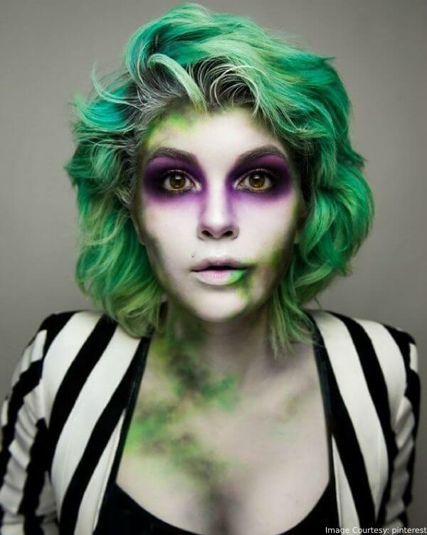 Beetlejuice Green Hair Latest Halloween Hair Color Ideas