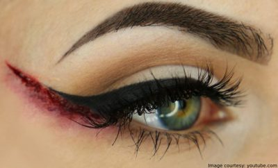Halloween Bloody Winged Eyeliner Makeup which is Beautiful and Haunting