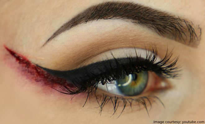 Halloween Bloody Winged Eyeliner Makeup