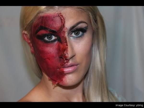 Halloween makeup ideas - Half Angel Half Devil