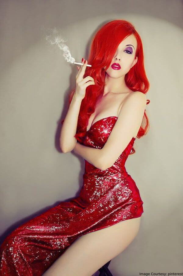 Jessica Rabbit's Signature Red Waves Halloween Hair Color