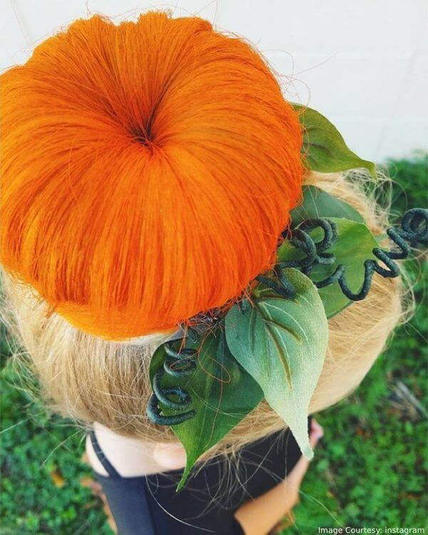 Pumpkin Bun Or The Bun-Kin Halloween Hair Trend