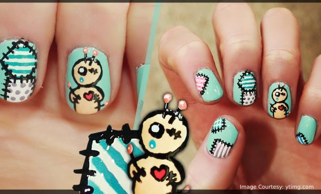 Voodoo Doll Nail Art