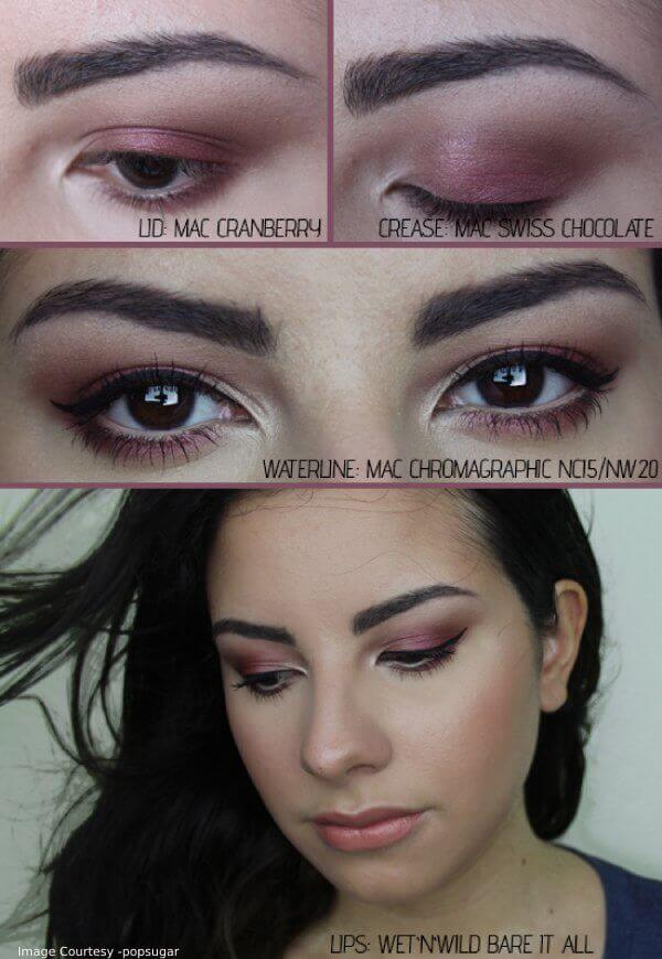 Thanksgiving Cranberry Eye Makeup