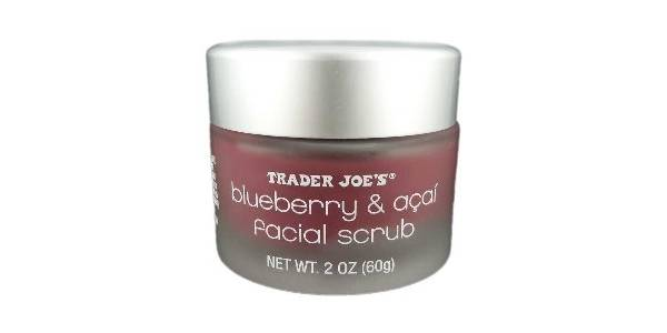 Trader Joe's Blueberry Acai Facial Scrub Review