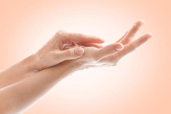 Exfoliate your hands from getting wind chapped