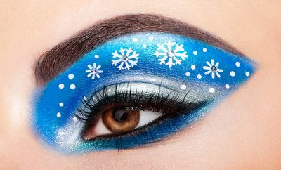 Snowflake Eye Makeup: Trendy Makeup To Look Festive This Christmas