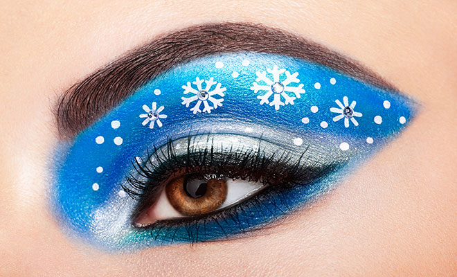 Snowflake Eye Makeup