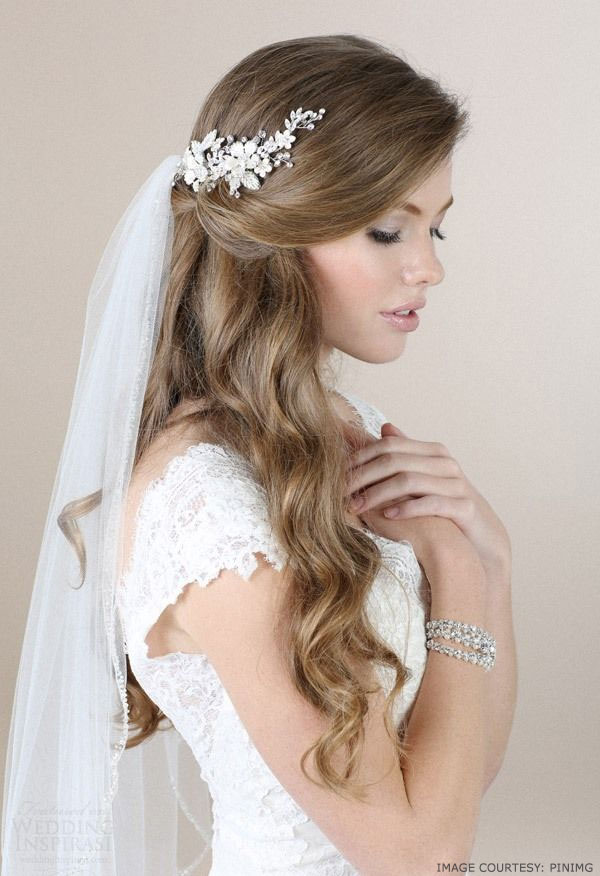 Elegant long loose grecian bridal hairstyle