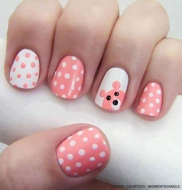 beary-polka-dot-nails-for-girls