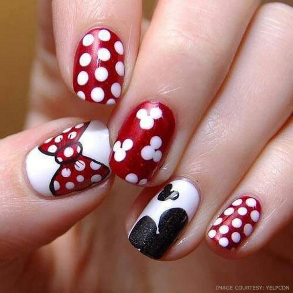 cute-bows,-hearts,-and-polka-dots-nail-art-ideas
