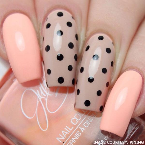 nude-polka-dots-nail-art-designs