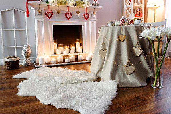 room decoration for him to celebrate valentine's day